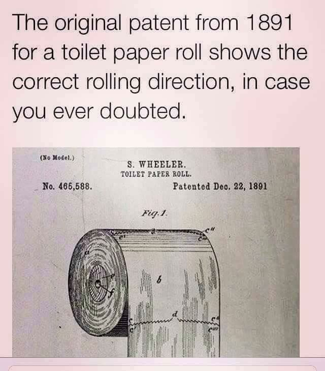 Posición correcta del papel higiénico