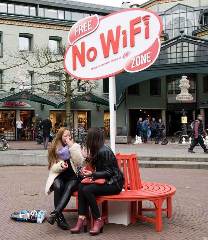 No Wi-Fi Poesía Visual Publicidad
