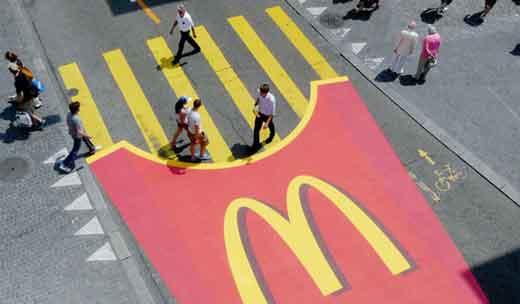 McDonald's Poesía Visual Publicidad