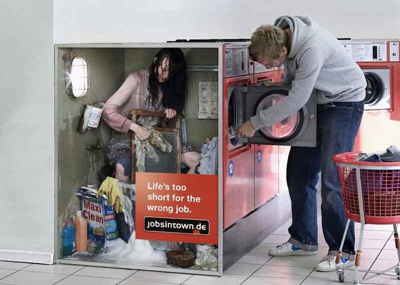 Poesía Visual Publicidad Campaña Jobsintown