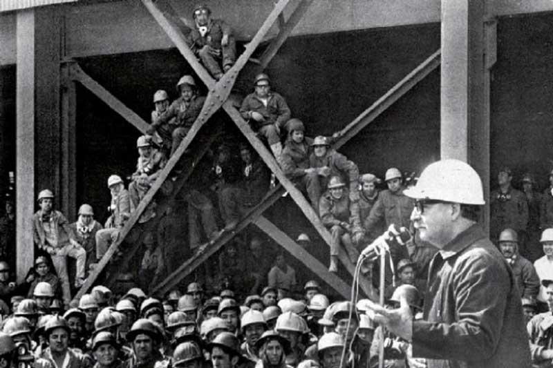 Discurso a los trabajadores del cobre de Salvador Allende pronunciado el 7 de febrero de 1971