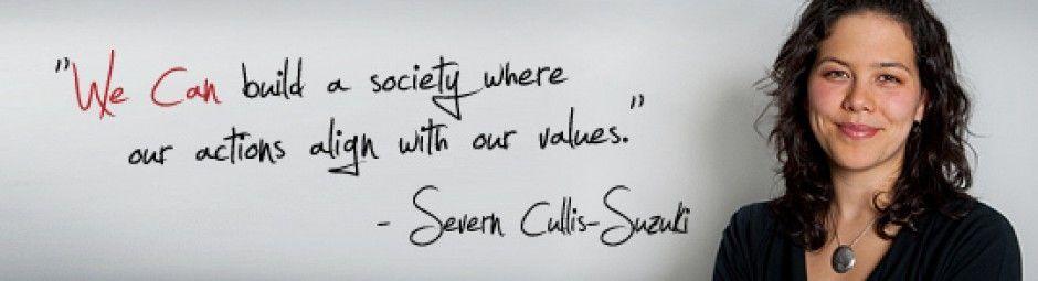 Discurso de Severn Cullis-Suzuki ante la cumbre de Medio Ambiente y Desarrollo, 1992
