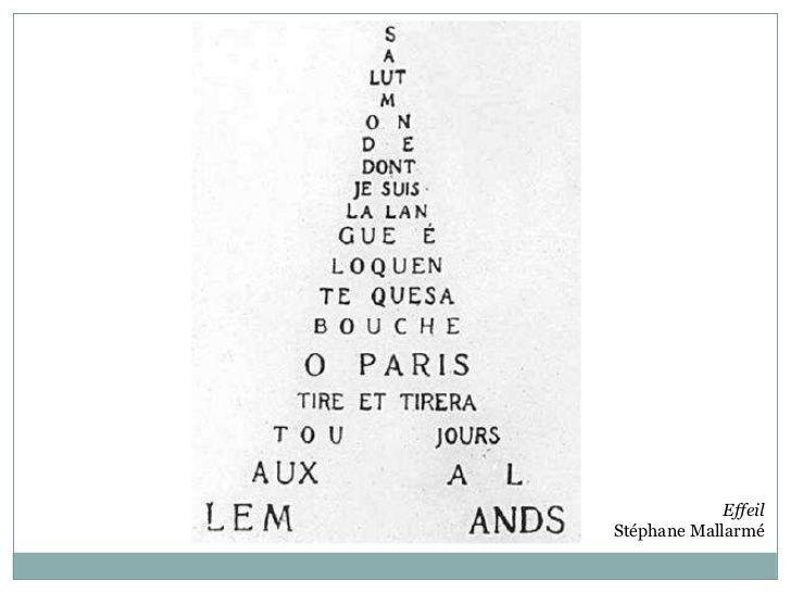 Poesía Visual, Caligrama de Stéphane Mallarmé