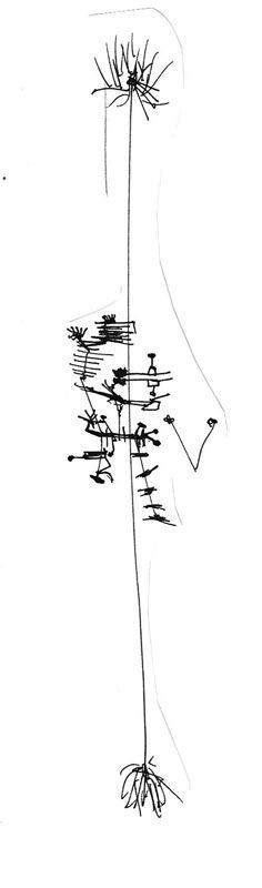 Subido al único árbol, garabato de David Pérez Pol
