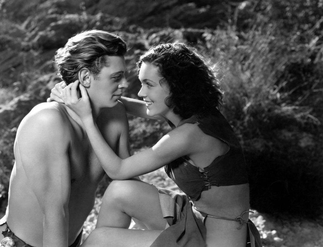 Escena censurada de la película Tarzán y su compañera, 1934