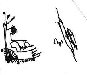 Viendo la TV desde el sillón, garabato de David Pérez Pol