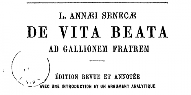 De Vita Beata: siete poemas (y un bonus track)