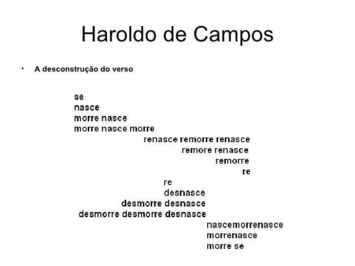 Haroldo de Campos, poeta visual
