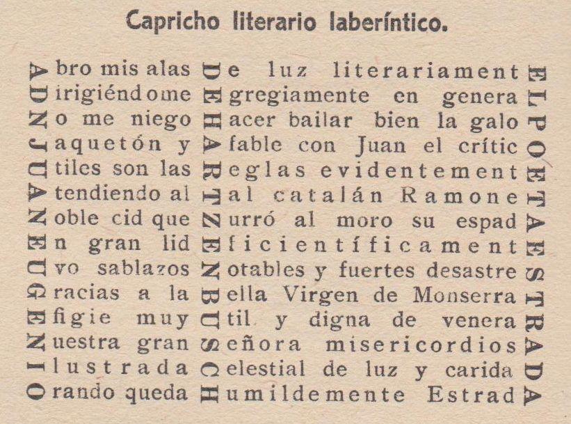 Poesía Visual de José González Estrada