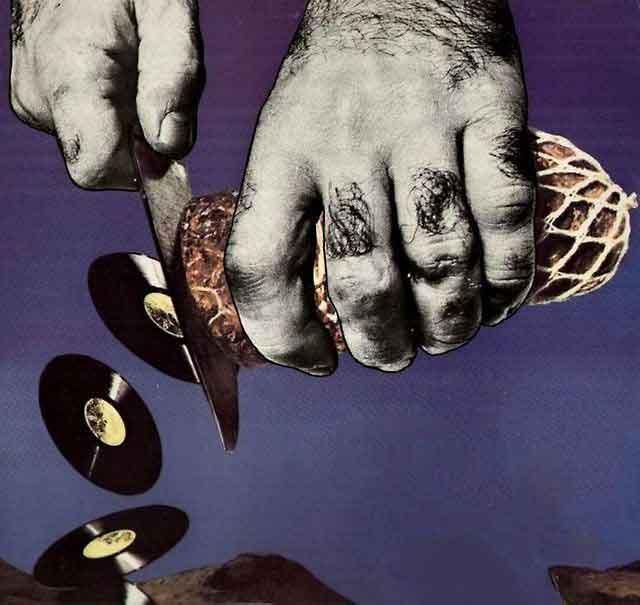 Terry Gilliam mostrando la técnica de animación de Monty Python, 1970